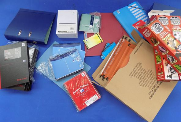 Box of various stationery items