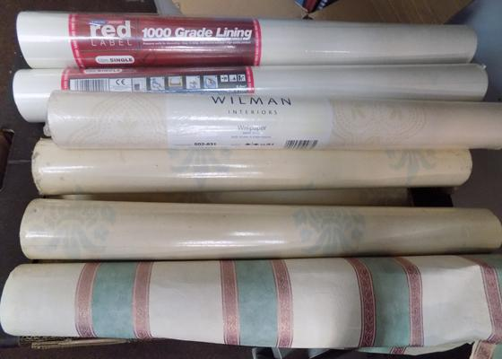 Box of wallpaper & lining paper