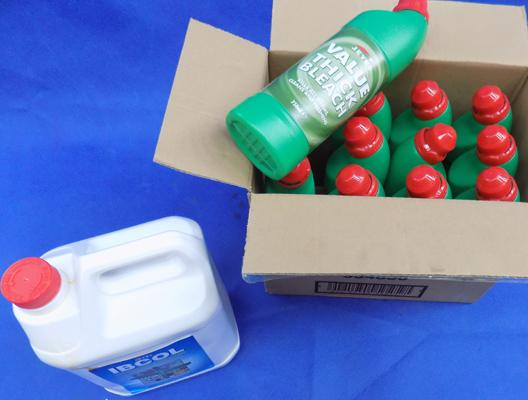 Box of Jeyes Bleach x11 + 5L Ibcol Disinfectant