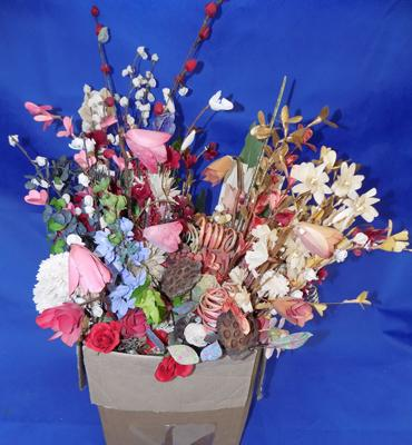 Collection of dry flowers