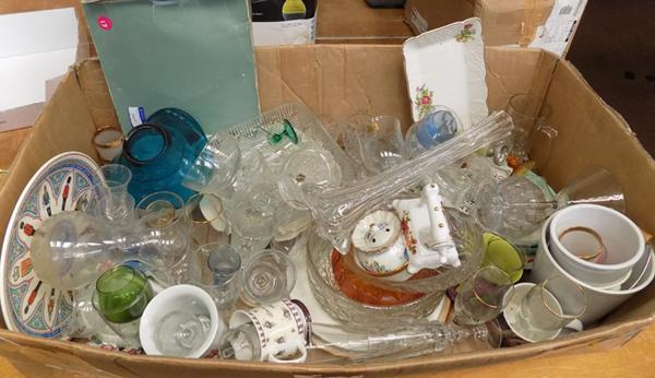Large box of glassware