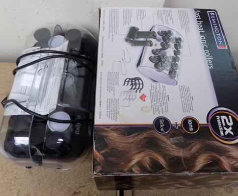 Two sets of heated rollers - Babyliss & Remington
