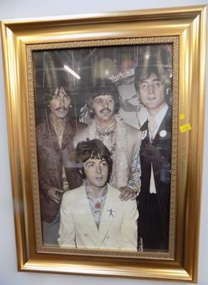 Framed Beatles picture-1967