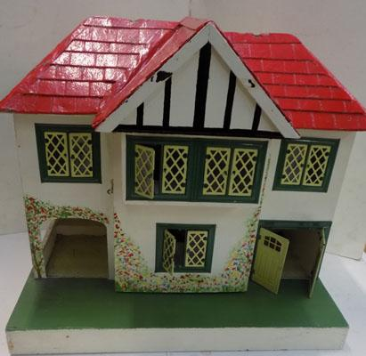 Vintage 1950's Tri-ang dolls house & furniture & accessories