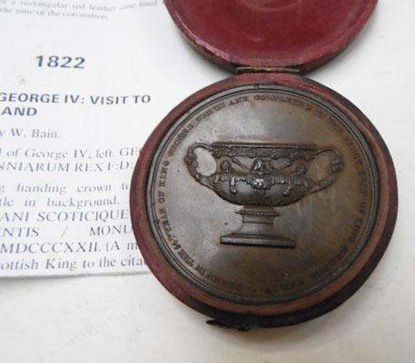 Thomasons Bronze vase medal 1822 King George IV visit to Scotland