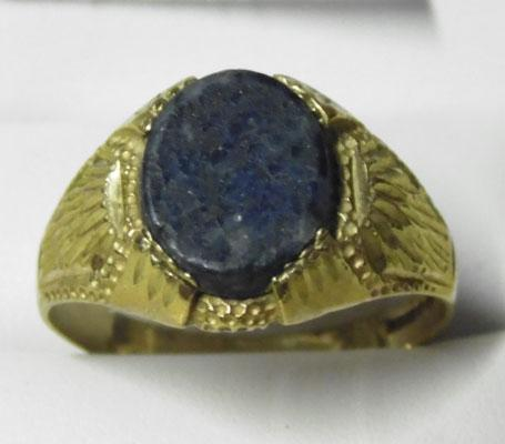 9ct Gold gents signet ring size V
