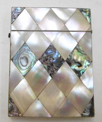 Large Mother of Pearl card case 78mmx105mm