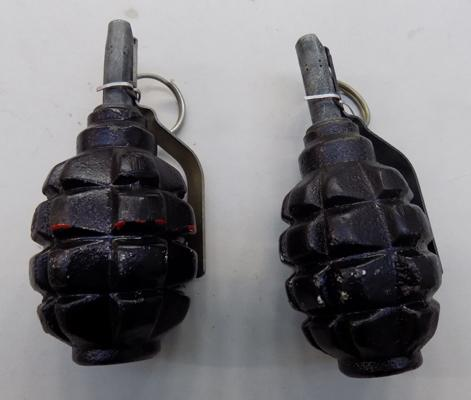 2x Russian de-activated grenades