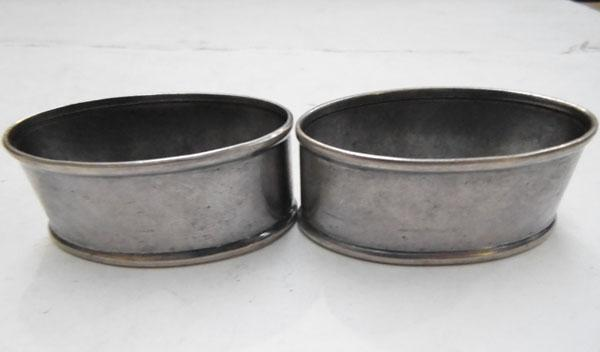 Pair of solid silver napkin rings