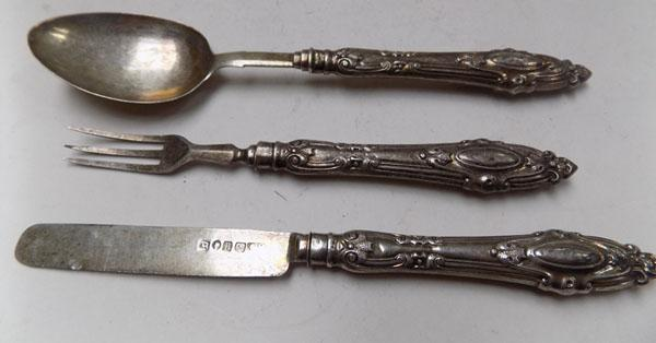 Child's cutlery set, circa 1856 Birmingham