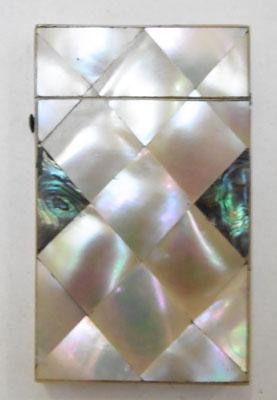 Small Mother of Pearl card case 55mmx92mm