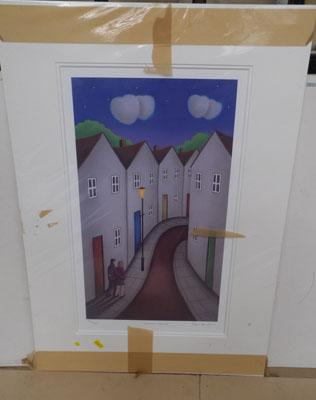 Signed mounted print by Paul Horton-Lovers Lane 50/495 with certificate