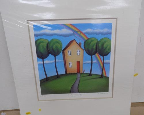 Signed mounted print by Paul Horton-On Rainbow Days 80/295 with certificate