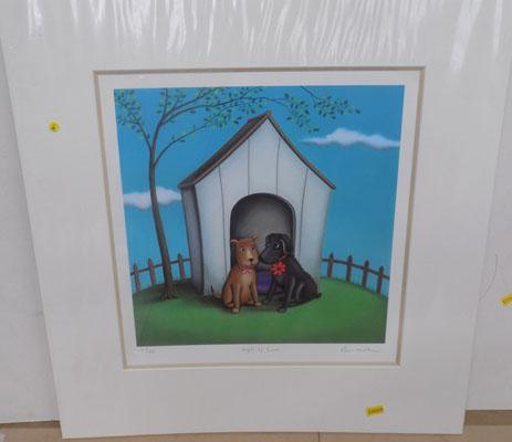 Signed mounted print by Paul Horton-Gift of Love 30/295 with certificate
