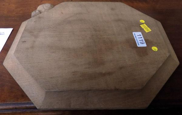 Authentic Kilburn mouseman cheese/bread board