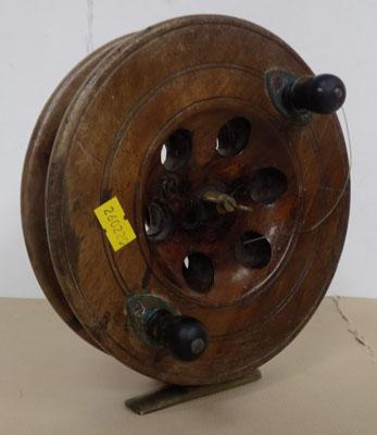 Wooden Eton fishing reel