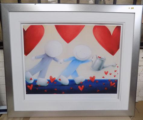 Signed Ltd Ed print 'Love Keeps Growing' by Doug Hyde, size-107cm x 92cm