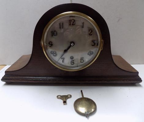 Anvil Westminster chime 8 day clock with key in working order