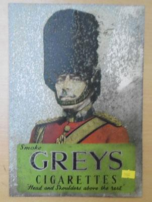 Vintage Greys cigarettes advertising sign-aluminium