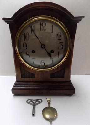 Thomas Haller bracket 8 day clock with key in working order