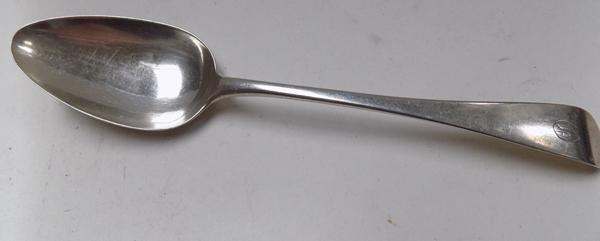 Antique silver serving spoon, London 1801