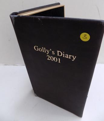 Complete set of 2001 Golly's Diary badge set