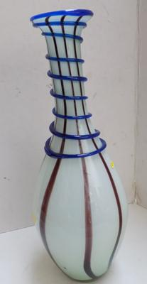 Mid 20th Century Murano glass swirl vase