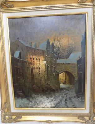 "Oil painting by W.F Smith 1970's 21.5"" x 25.5"""