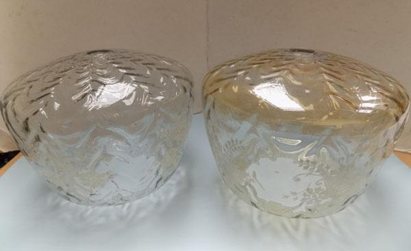 Pair of Victorian light shades