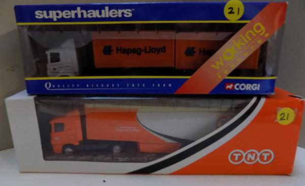 Corgi Scania Superhaulers - Global Express & Hapag Lloyd