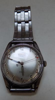 Roamer Gents watch - stainless steel with vintage jewels