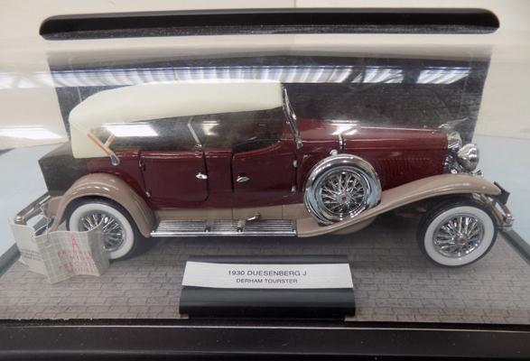 Franklin mint 1/24 scale boxed & label 1930 Duesenburg J Derham tourer