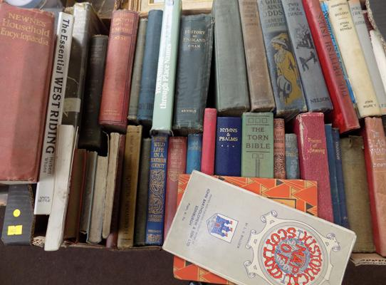 Large box of vintage books