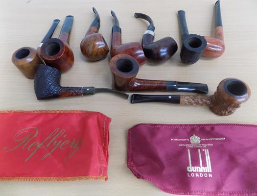 Set of 10 smoking pipes incl: Keywoodie and K&P Peterson