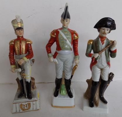 Selection of three Capodimonte figures in uniform