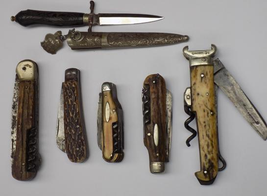 Selection of vintage penknives