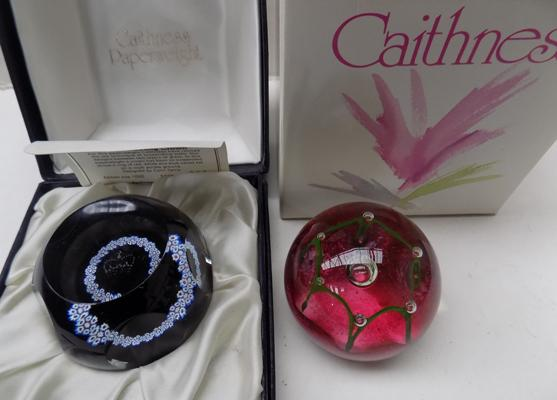 2 Caithness paperweights