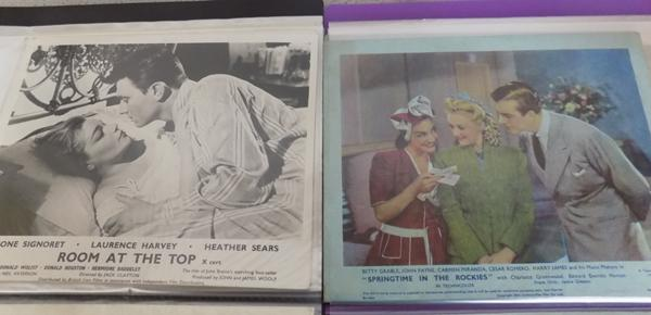 2 sets of movie lobby cards