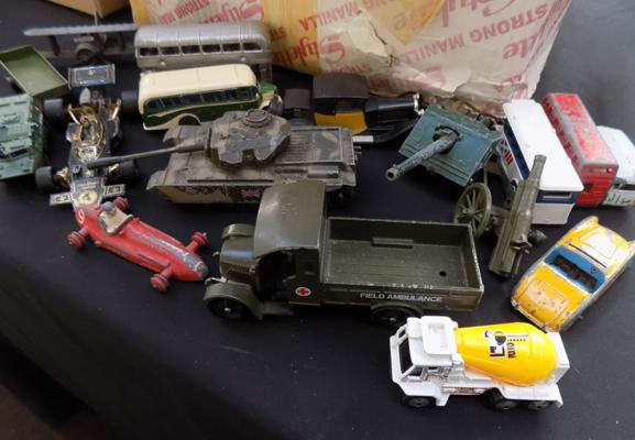 Selection of diecast vehicles including Corgi