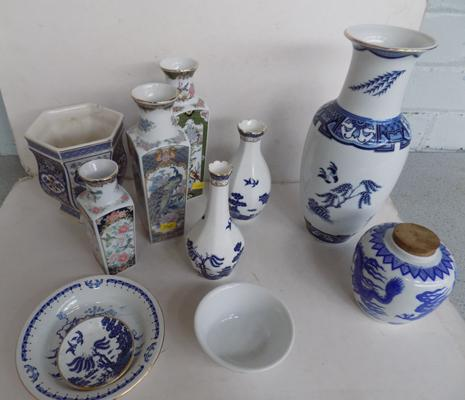 Selection of quality oriental themed pottery