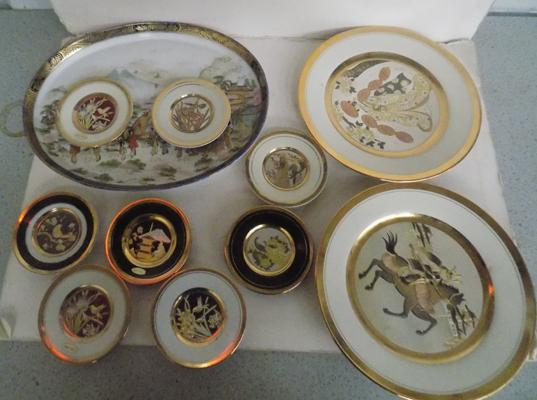 Selection of oriental plates