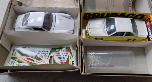 2 vintage Burago boxed model cars