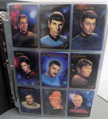 Set up Star Trek trading cards in folder