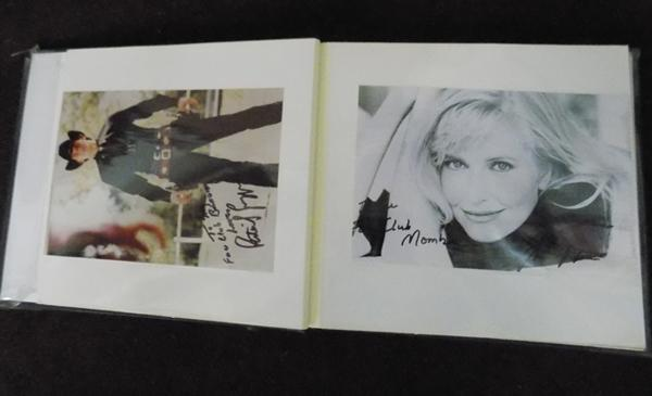 Album of show business photographs and letters - many signed
