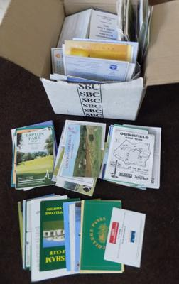 Box of over 400 golf scorecards