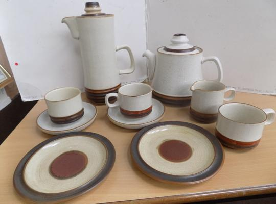 Denby ware coffee set and teapot