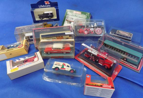 Selection of diecast boxed vehicles including Dinky and Corgi