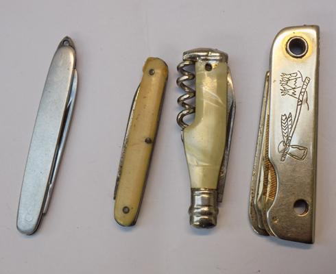 Small selection of miniature pen knives