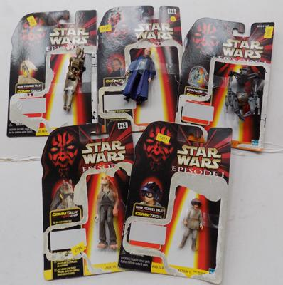 5 Star wars figures on cards