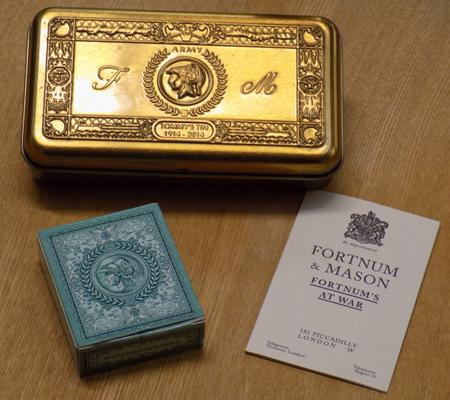 Fortnum and Mason 'Tommy's tin' with cards